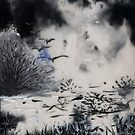 Birds, Tree and Chaos (my painting job) II by Antanas