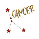 Cancer (Cancer) Star Astrology Sign - Gold, Ruby Style by fritzlang