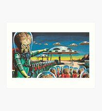 Mars Attacks! 3 Art Print