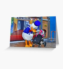 Rosalie meets Donald Duck Greeting Card