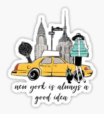 New York Girl Sticker