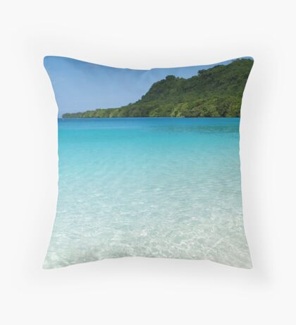 crystal clear. Throw Pillow