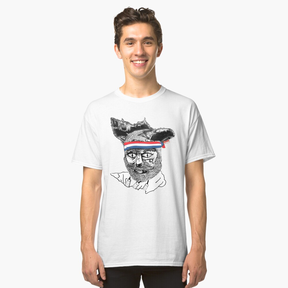 Crack Fox Classic T-Shirt Front