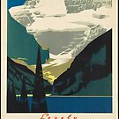 Vintage Lake Louise Canada Rockies Travel Vacation Holiday Advertisement Art Posters by jnniepce