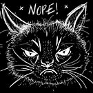 Funny Cat Says Nope! Cat Owner Sarcastic Drawn Design  by PerttyShirty