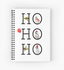 HO HO HO Christmas Penguins Spiral Notebook