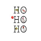 HO HO HO Christmas Penguins by Ann Drake