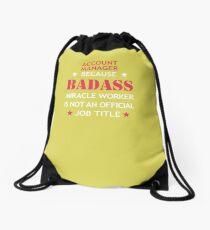 Account Manager Badass Birthday Funny Christmas Gift Drawstring Bag