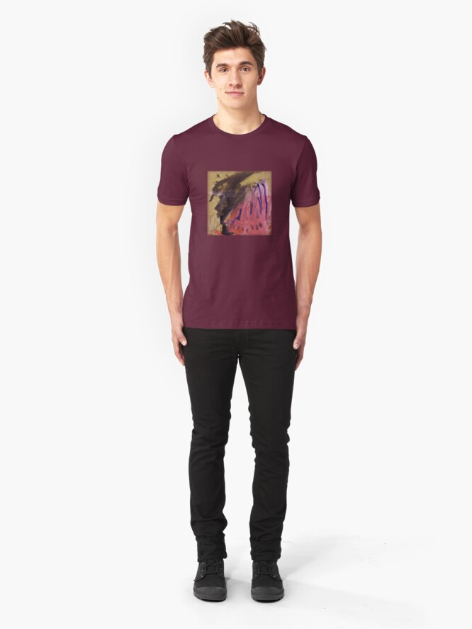 Alternate view of Monster wearing pink Slim Fit T-Shirt