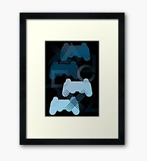 PS3 Gaming blue Framed Print
