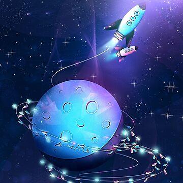 Lichterketten Rakete von schwebewesen