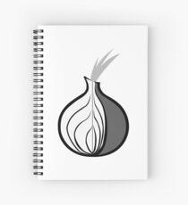 Tor Onion logo in black & white Spiral Notebook