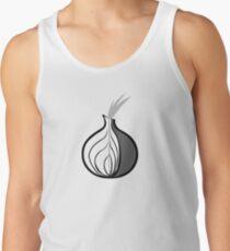 Tor Onion logo in black & white Tank Top
