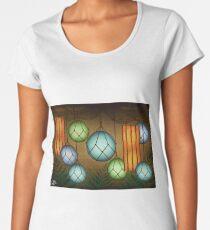 Camiseta premium de cuello ancho Luces tiki