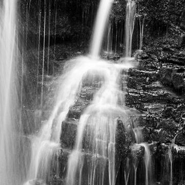 Mini Falls, Vale of Neath, south Wales. UK by heidipics