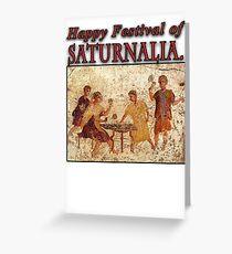 Saturnalia Christmas Greeting Card