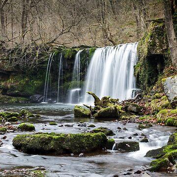 Upper Ddwli Falls, Vale of Neath UK by heidipics