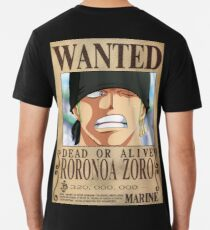 One Piece - Zorro - Wanted T-Shirt Premium T-Shirt
