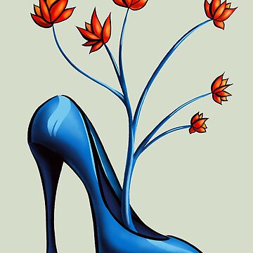 High Heel Shoe And Flower Bouquet by azzza