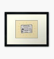 SNL Ticket Framed Print