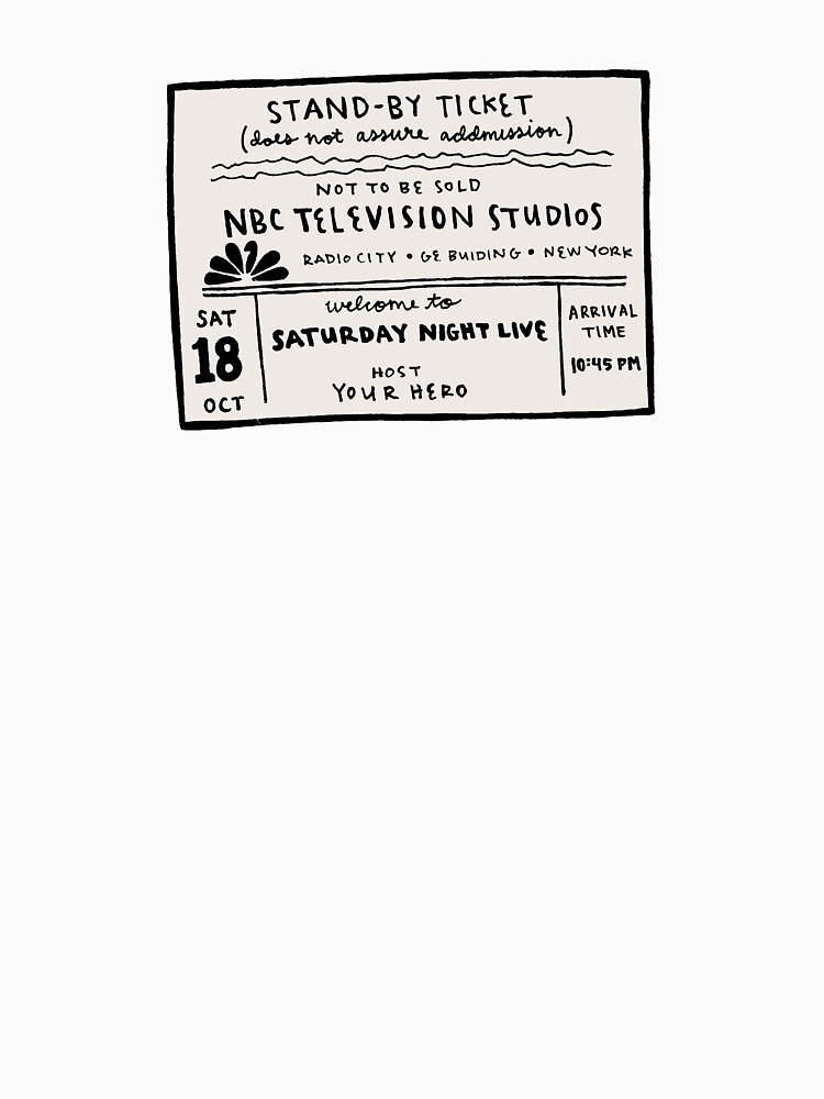 SNL Ticket by spiropaperco