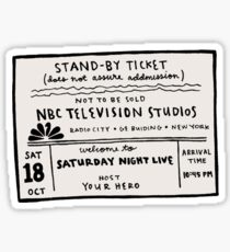 SNL Ticket Sticker