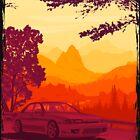 R32 skyline Gtst touge illustration. by ArtyMotive