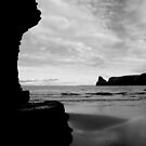 Cornwall: Elephant Rock at Bossiney Haven In Silhouete B&W by Rob Parsons
