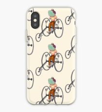 A Fish with a Vintage Tricycle  iPhone Case