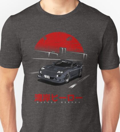 Wangan Heroes FD3S - Black T-Shirt