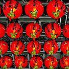 Red Lanterns at Zhinan Temple by TonyCrehan