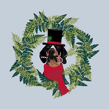 Top Hat Coonhound by VieiraGirl