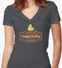 The Snuggly Duckling Women's Fitted V-Neck T-Shirt