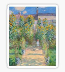 Claude Monet, The Artist's Garden at Vétheuil, 1881 Painting Sticker