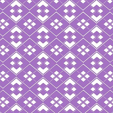 Abstract geometric pattern - purpleand white. by kerens