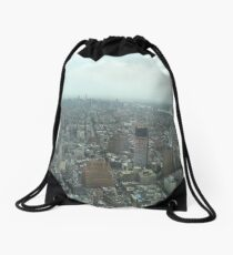 Aerial View of Lower Manhattan, Midtown Manhattan, View from One World Observatory, World Trade Center Observation Deck Drawstring Bag