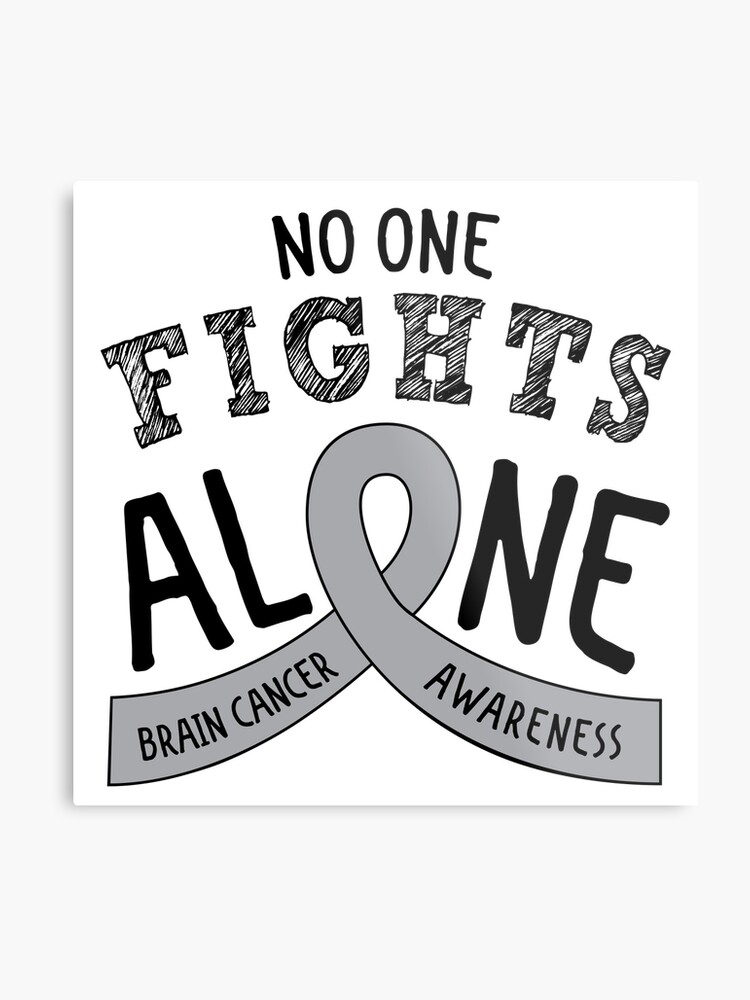 d74dff97bd5 Brain Cancer Awareness Ribbon | Metal Print