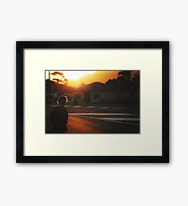 summer in suburbia Framed Print