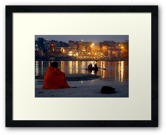 Varanasi Ghats-at Dusk-1 by Mukesh Srivastava