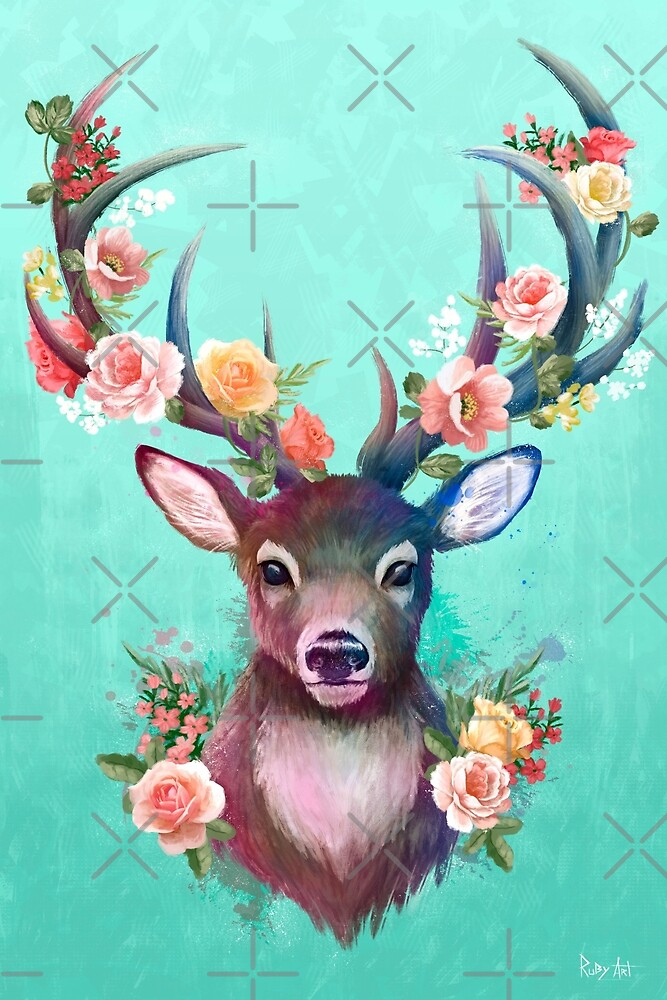 Deer Of Spring by Ruby-Art