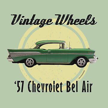 Vintage Wheels - '57 Chevrolet Bel Air by DaJellah