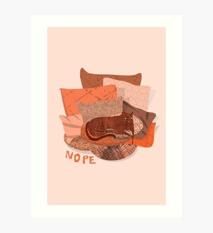 Nope - Lazy Red Cat Art Print