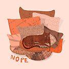 «Nope - Lazy Red Cat» de elenor27
