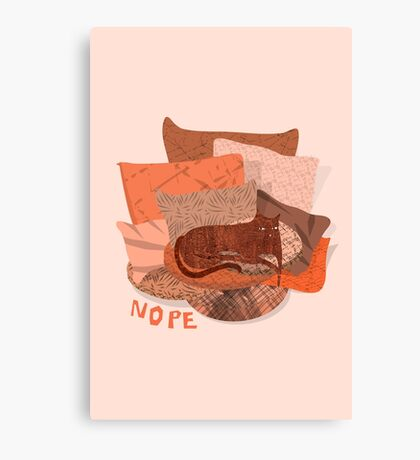 Nope - Lazy Red Cat Canvas Print