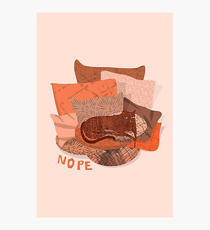 Nope - Lazy Red Cat Photographic Print
