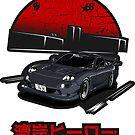 Wangan Heroes FD3S - Black - Sticker by BBsOriginal