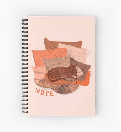 Nope - Lazy Red Cat Spiral Notebook