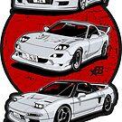 Wangan Heroes - White - Sticker by BBsOriginal