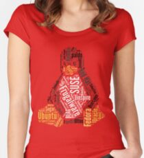 Tux Typo Women's Fitted Scoop T-Shirt