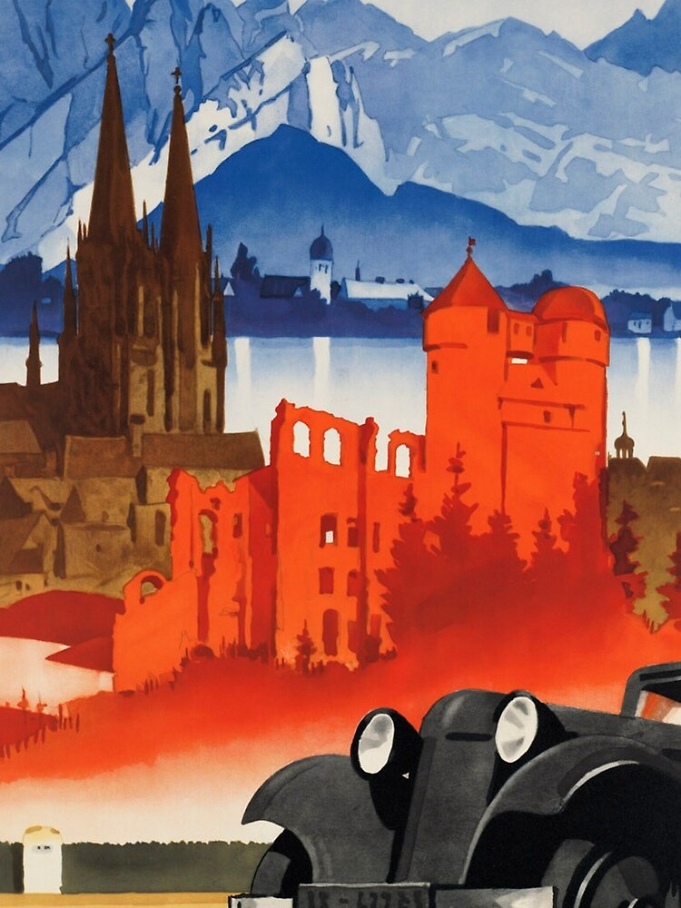 Vintage Motoring in Germany Travel Vacation Holiday Advertisement Art Posters by jnniepce